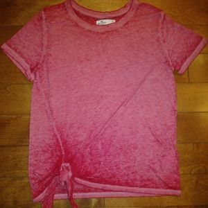 🌸3 for$30🌸 Holister t-shirt side tie pink/red